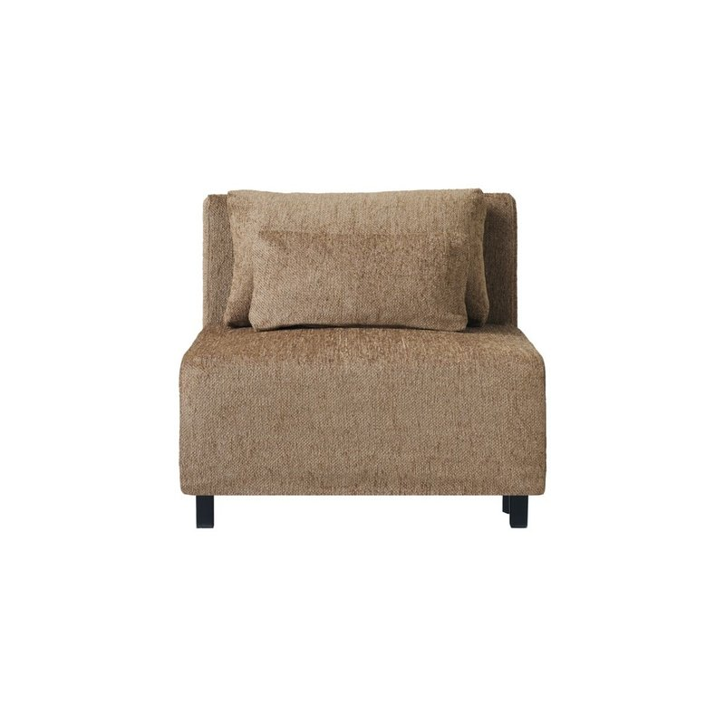 House Doctor-collectie Sofa, Middle section, Camphor, Camel, Seat height: 44 cm, Incl. 2 Pillows