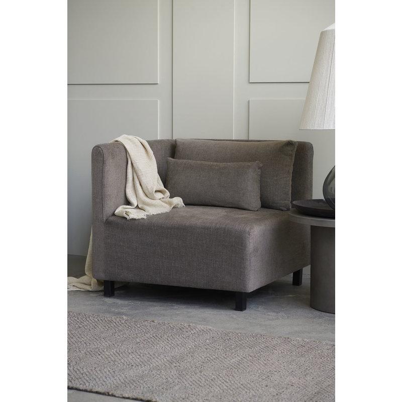 House Doctor-collectie Sofa hoekgedeelte Hazel Night Grijs/bruin