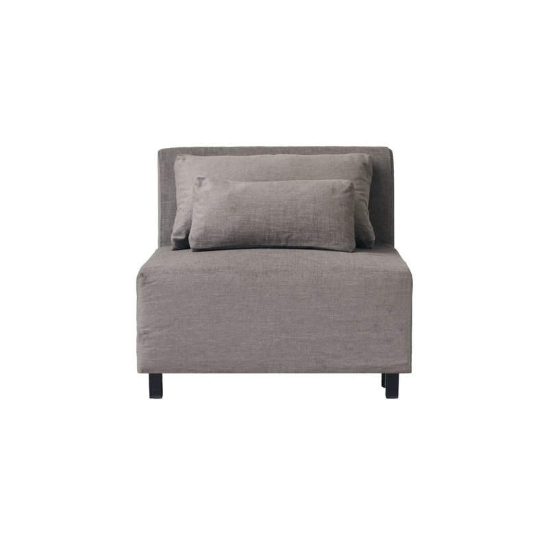 House Doctor-collectie Sofa, Middle section, Hazel Night, Grey/Brown, Seat height: 44 cm, Incl. 2 Pillows