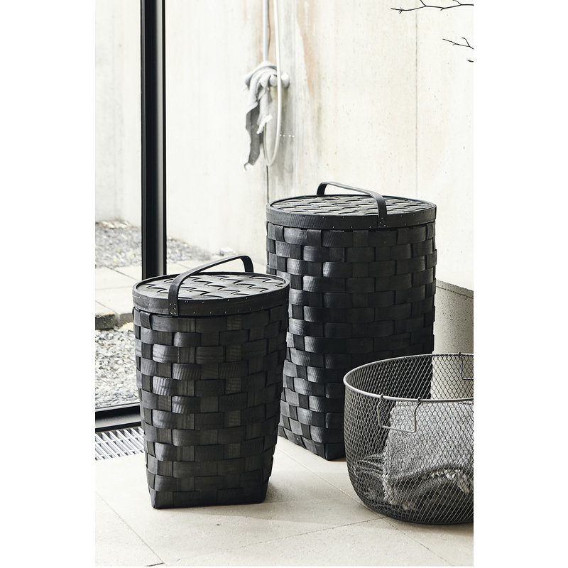 House Doctor-collectie Basket w. lid, Edition, Black, Set of 2 sizes