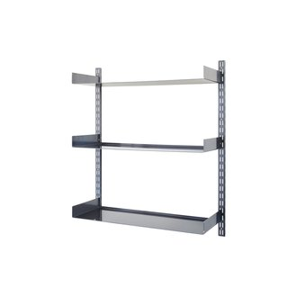 House Doctor Shelving system, Wandrek Fari, Black, Incl. 3 shelves