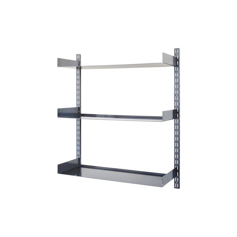 House Doctor-collectie Shelving system, Wandrek Fari, Black, Incl. 3 shelves