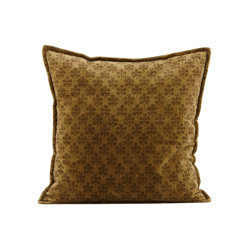 House Doctor-collectie Pillowcase, Velv, Mustard, Print will vary