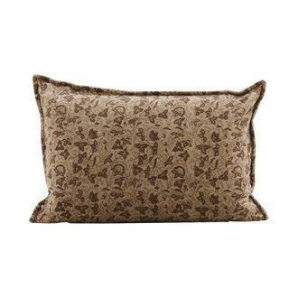House Doctor Pillowcase, Velv, Light brown, Print will vary
