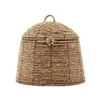 House Doctor Basket w. lid, Rama, Natural