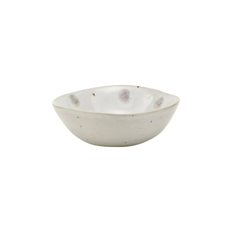 House Doctor-collectie Bowl, Dots, White w. green dots