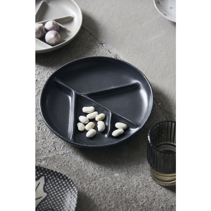House Doctor-collectie Plate, Branch, Dark grey