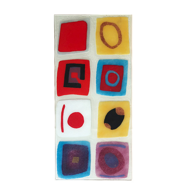 DEENS LOVES-collectie Vintage glass wall decoration abstact