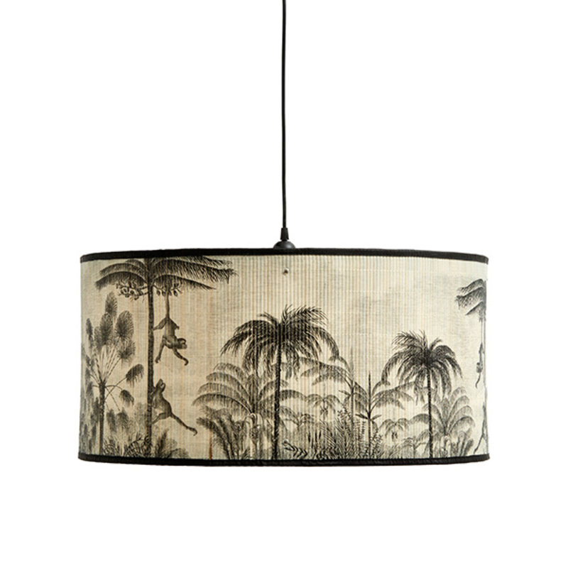 Nordal-collectie BAUBO lamp shade, nature/black print