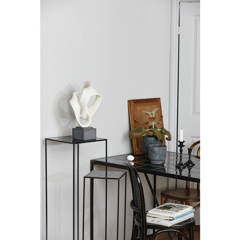 Nordal-collectie TAJO table, black tiles