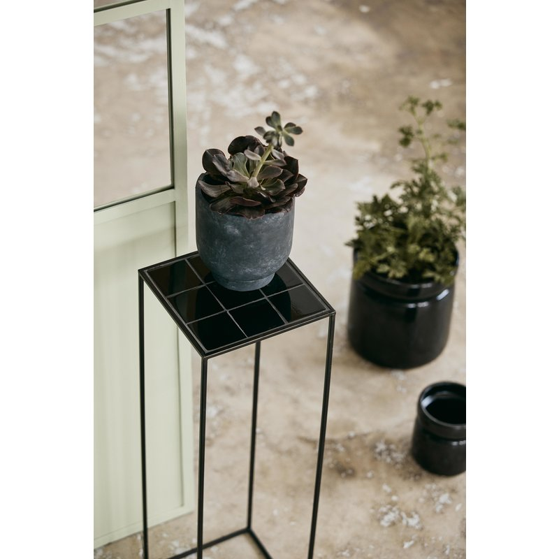 Nordal-collectie TAJO display stand, black tiles
