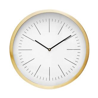Nordal NICOBAR wall clock, golden frame, lines