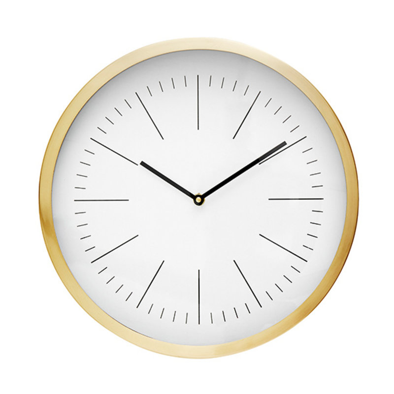 Nordal-collectie NICOBAR wall clock, golden frame, lines