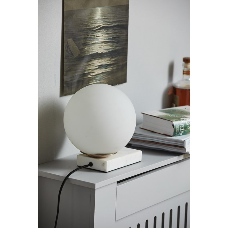 Nordal-collectie ENYO table lamp, matt white w/marble