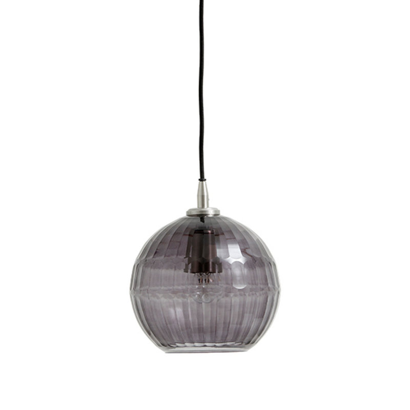 Nordal-collectie NYX hanging lamp, cut glass, smoke