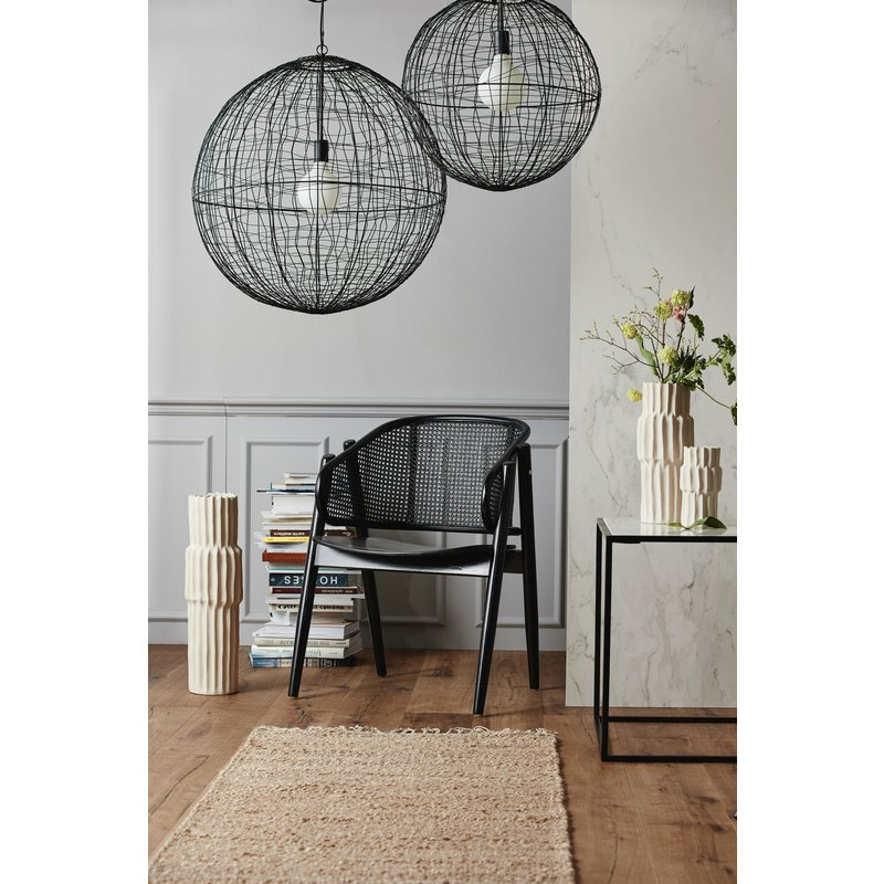 Nordal-collectie SELENE hanging lamp, black iron ball L