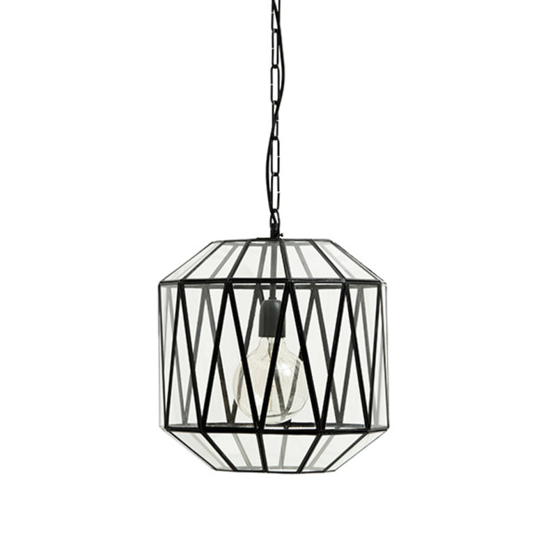 Nordal-collectie HERA hanging lamp, glass triangles