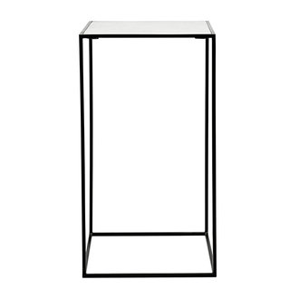 Nordal CUBE side table, white marble, L