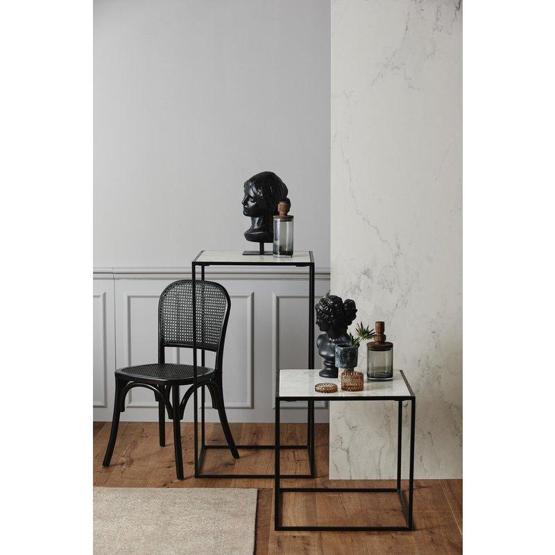 Nordal-collectie Bijzettafel CUBE hoog wit marmer L