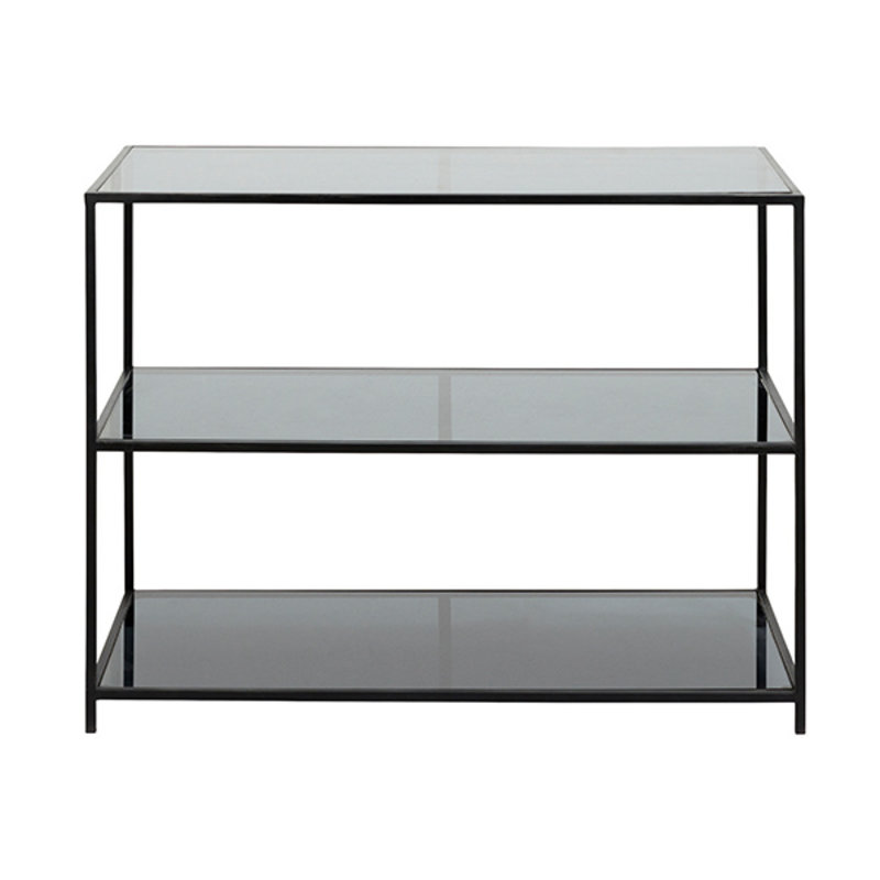 Nordal-collectie ORINOCO display rack, black metal/glass