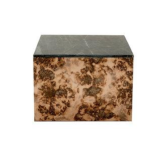 Nordal OKA coffee table, antique mirror, stone