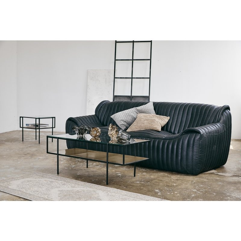 Nordal-collectie PARANA coffee table, L, golden/clear