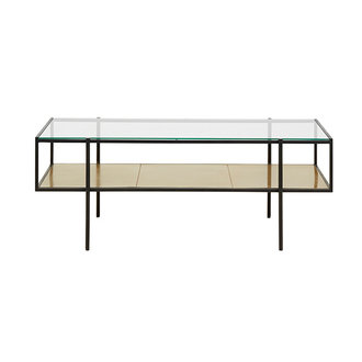 Nordal PARANA coffee table, L, golden/clear