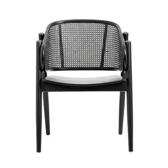 Nordal WICKY lounge chair, black/black