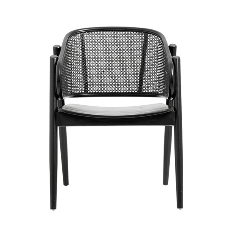 Nordal-collectie WICKY lounge chair, black/black