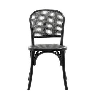 Nordal WICKY chair w. wickerwork, black/black