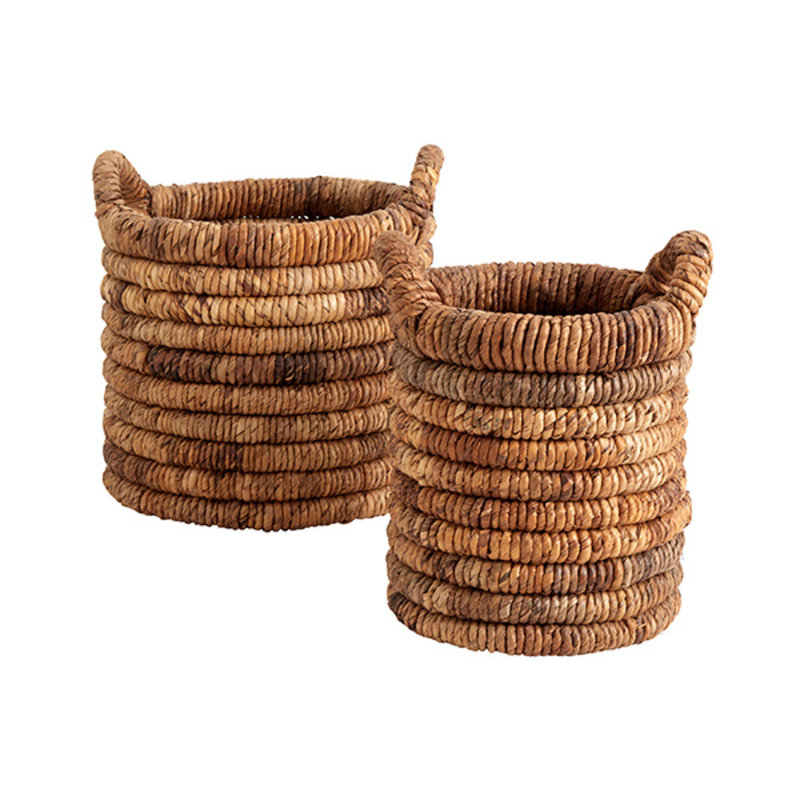 Nordal-collectie ABACA round baskets, s/2, natural