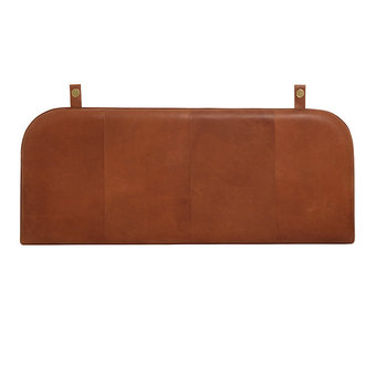 Nordal ONEGA head board, brown leather