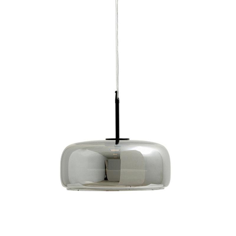 Nordal-collectie IRISH hanging lamp, M, grey metallic