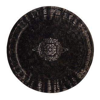 Nordal GRAND woven rug, dark grey/black