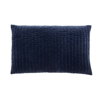 Nordal CASTOR cushion cover, dark blue velvet