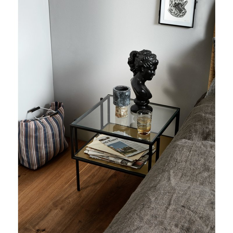 Nordal-collectie PARANA coffee table, S, golden/clear