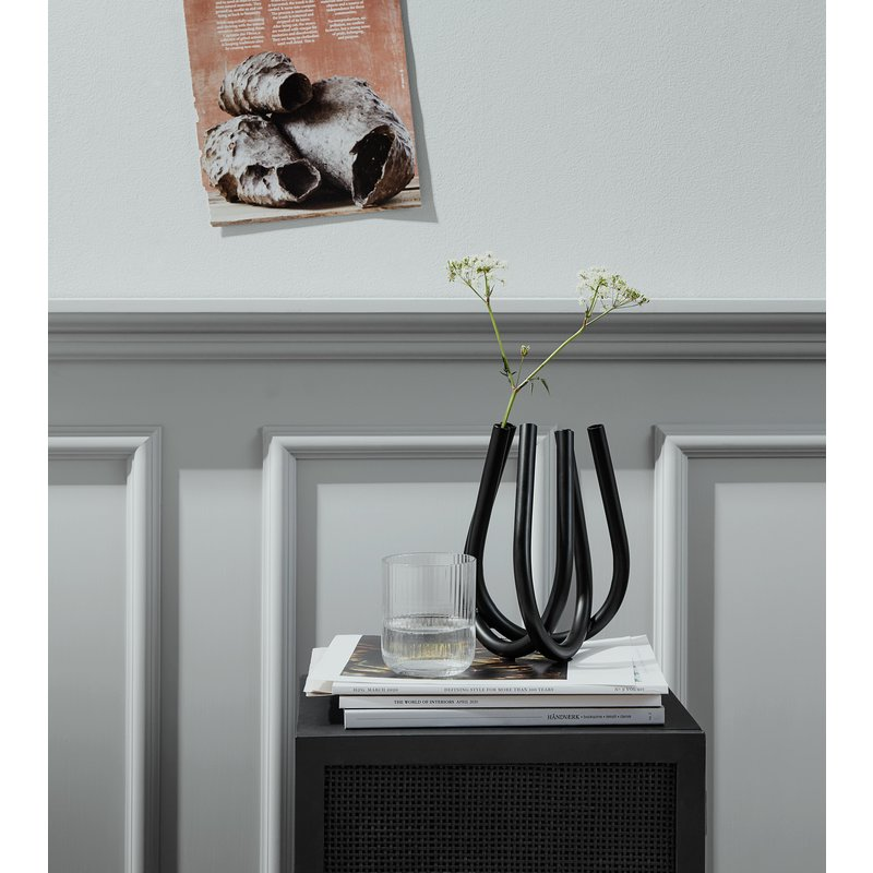 Nordal-collectie RECCO wall table/cabinet, black