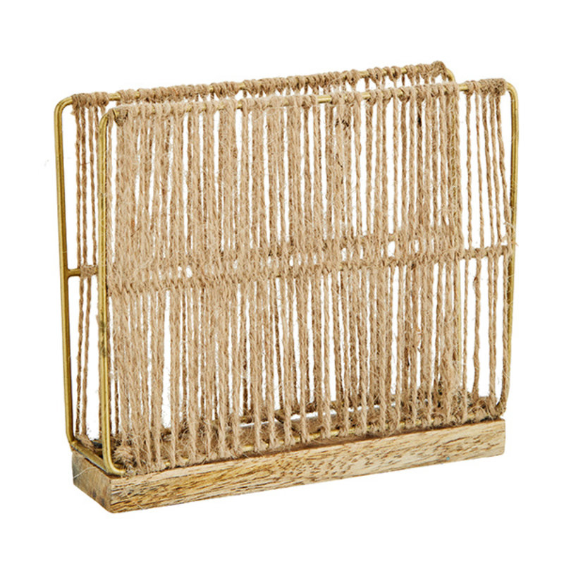 Madam Stoltz-collectie Jute napkin holder