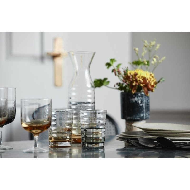 Nordal-collectie JOG glass jug, clear/amber
