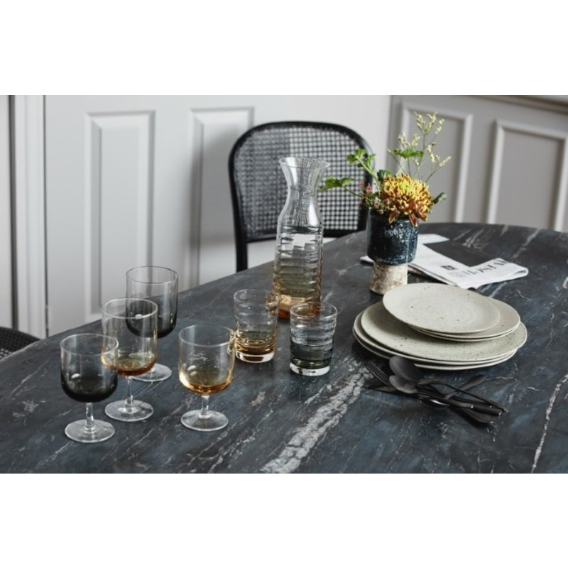Nordal-collectie JOG white wine glass, clear/black