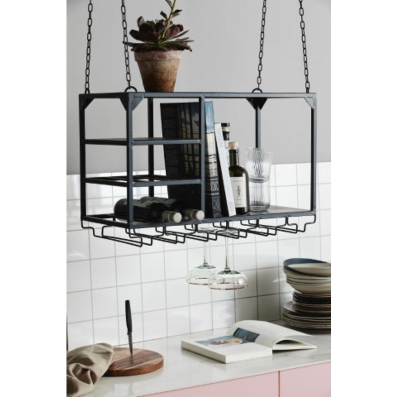 Nordal-collectie LOFT rack/shelf, S, black