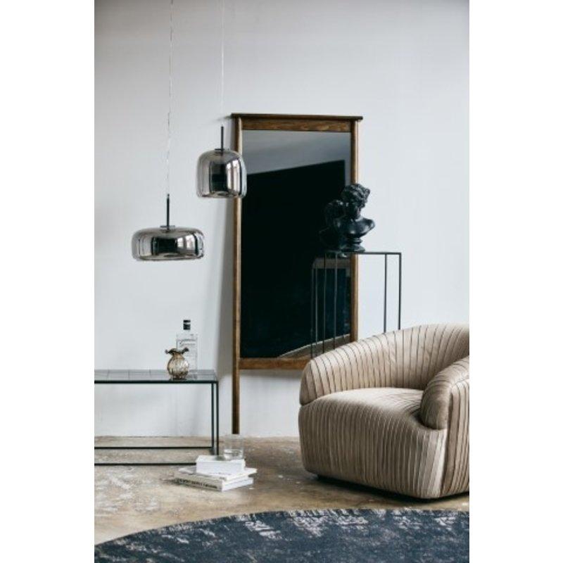 Nordal-collectie Vloerkleed rond GRAND 140cm zwart/grijs