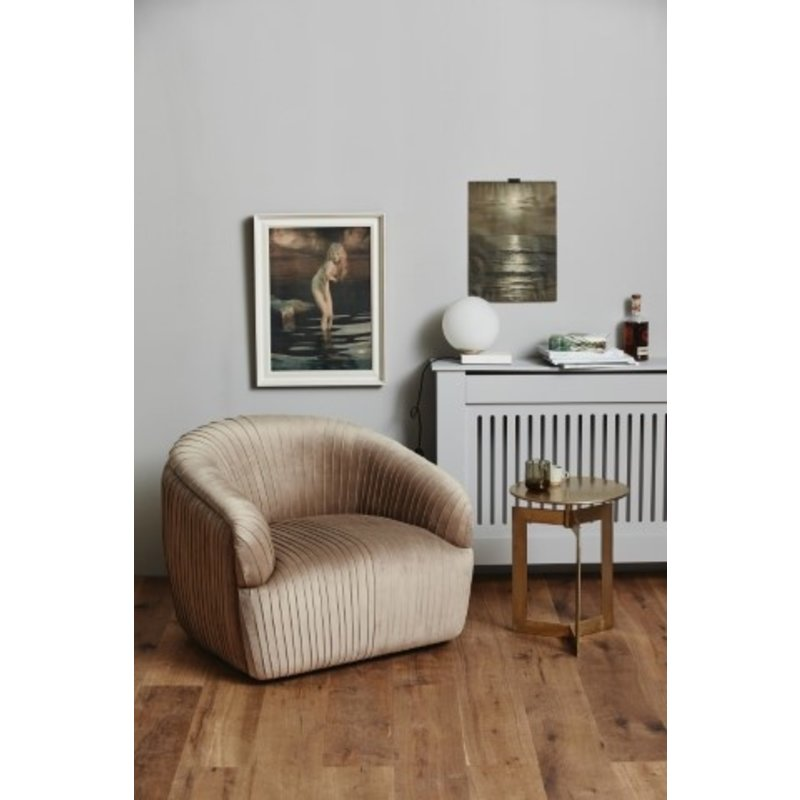 Nordal-collectie LORE lounge chair, light brown