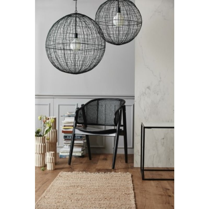 Nordal-collectie Fauteuil WICKY rottan zwart