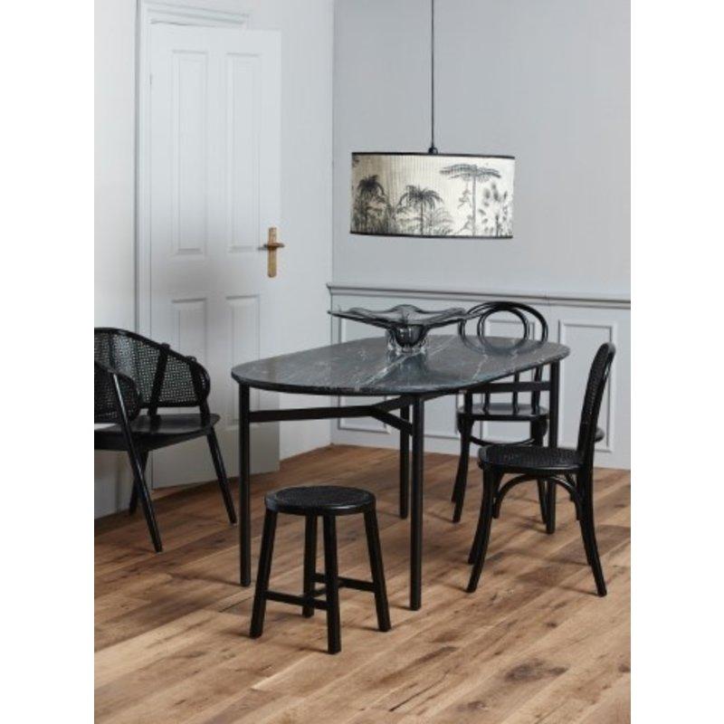 Nordal-collectie WICKY chair w. wickerwork, black/black