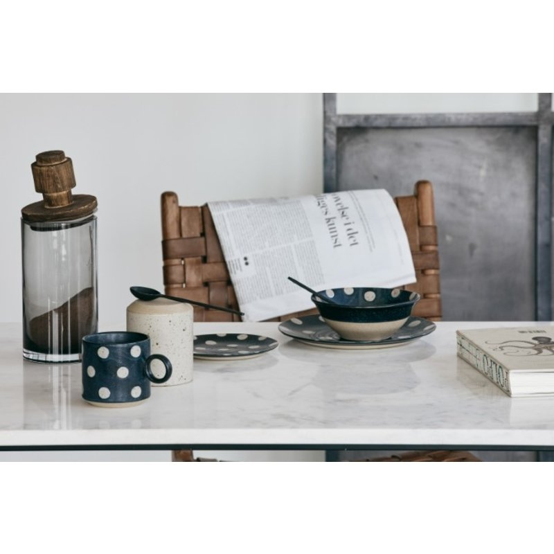 Nordal-collectie GRAINY dot bowl, dark blue/sand