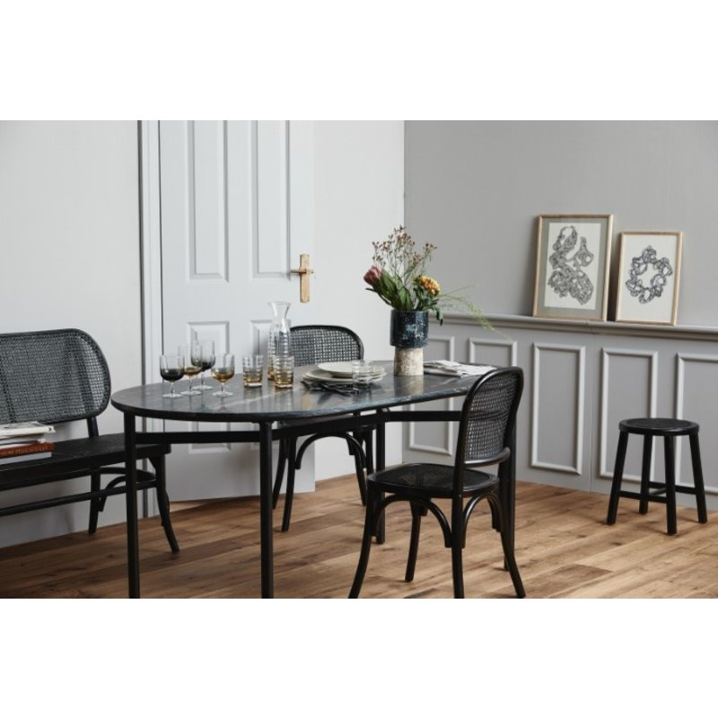 Nordal-collectie TAUPO dining table, black marble