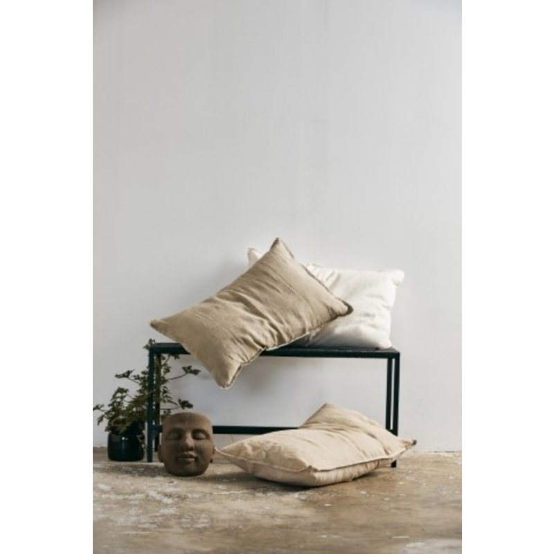 Nordal-collectie MIZAR cushion cover, pistach/grey velvet