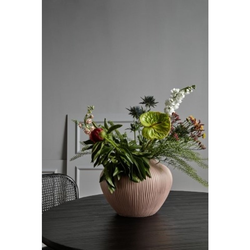 Nordal-collectie HANO low vase, rose