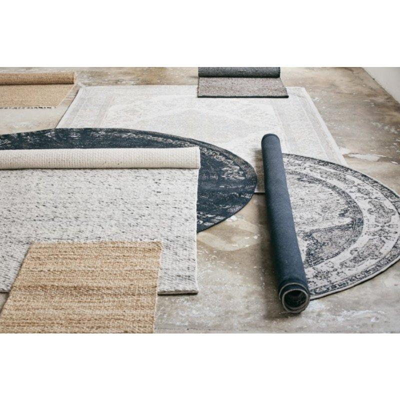 Nordal-collectie Vloerkleed rond VENUS 240cm grijs